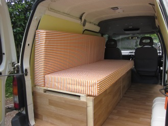 We'll have two small pieces of foam that slot behind the matress and give the sofa a flatter more comfy back