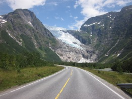 Road to the Glacier in Norway