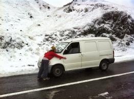 Fresh snowfall in Romania