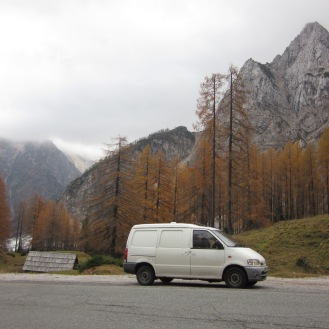 Slovenias Alps looked amazing even in bad weather