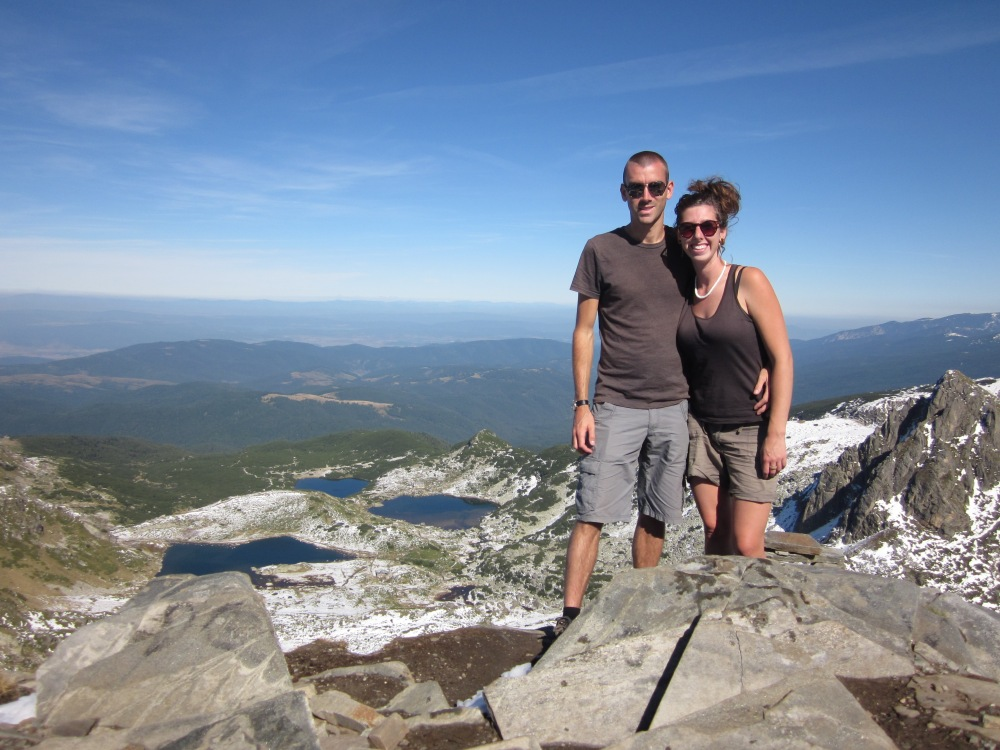 Thanks to a ski lift we gained 2000m elevation and did a great hike at the Seven Rila Lakes.