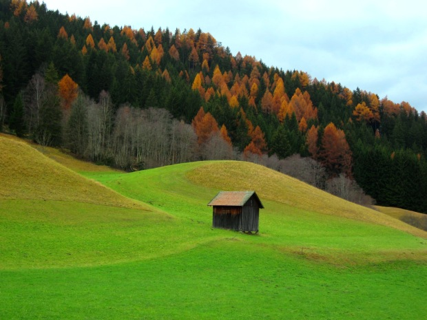 Beneath the high Dolomites were picturesque pastures