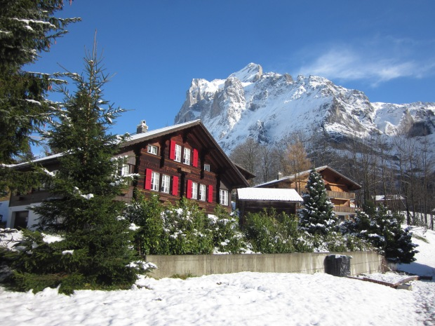 The view of Mount Eiger in the Interlaken area