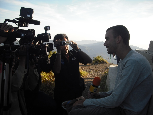 Oh yeah, there was a film crew at the top who wanted to interview the Bule's!